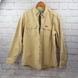 Carhartt men's Long Sleeved Thick Tan Shirt